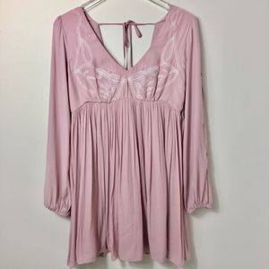 Forever 21 Blush Pink Boho Dress Small NWT
